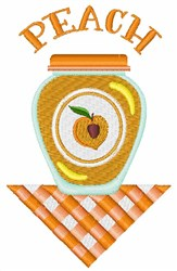 Peach Jar embroidery design