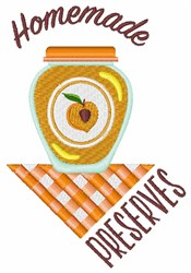 Peach Preserves embroidery design