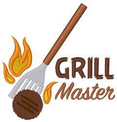 Grill Master embroidery design