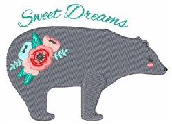 Sweet Dreams Bear embroidery design