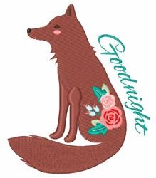 Goodnight Fox embroidery design