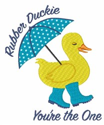 Rubber Duckie embroidery design