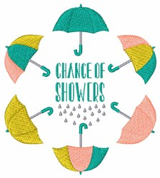 Chance Of Showers embroidery design