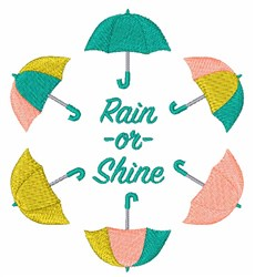 Rain Or Shine embroidery design