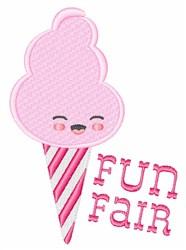 Fun Fair Cotton Candy embroidery design