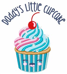 Daddys Little Cupcake embroidery design