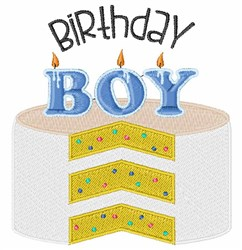 Birthday Boy Cake embroidery design