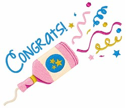 Congrats Confetti embroidery design