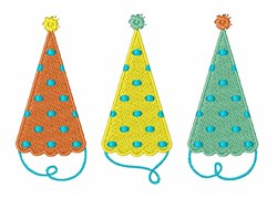 Party Hats embroidery design