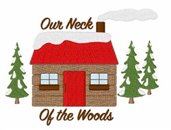 Log Cabin Woods embroidery design