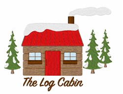 The Log Cabin embroidery design