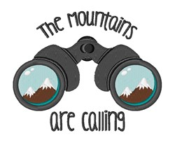 Mountains Calling embroidery design