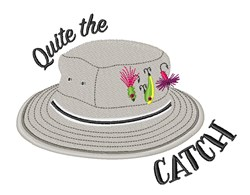 The Catch Hat embroidery design