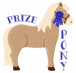 Prize Pony embroidery design