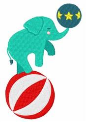 Circus Elephant embroidery design