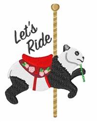 Panda Ride embroidery design