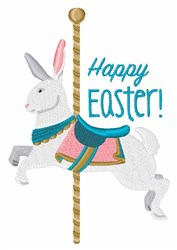 Happy Easter Carousel embroidery design