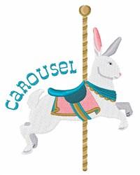 Rabbit Carousel embroidery design