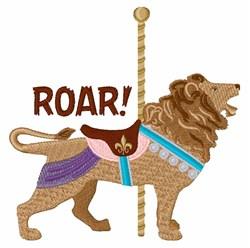 Lion Roar embroidery design