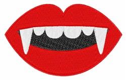 Vampire Teeth embroidery design