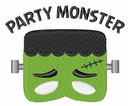 Party Monster embroidery design