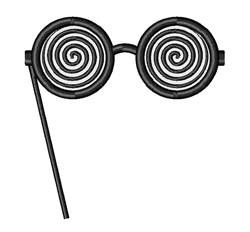 Crazy Glasses embroidery design