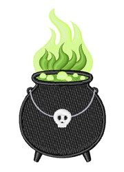 Witch Cauldron embroidery design