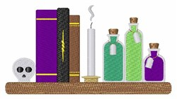Witch Books embroidery design