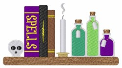 Spell Books embroidery design