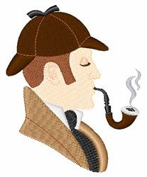 Sherlock Holmes embroidery design