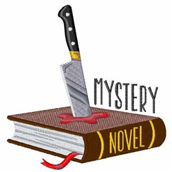 Mystery Novel embroidery design