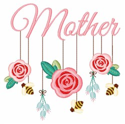 Mother Mobile embroidery design