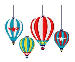 Hot Air Balloon Mobile embroidery design