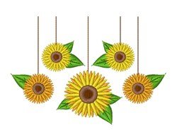 Sunflower Mobile embroidery design
