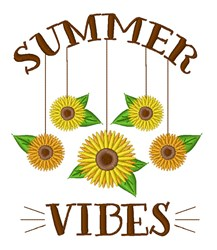Summer Vibes embroidery design