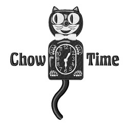 Chow Time embroidery design