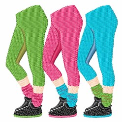Workout Pants embroidery design