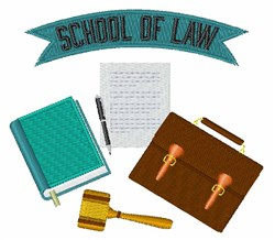 School Of Law embroidery design