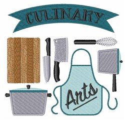 Culinary Arts embroidery design