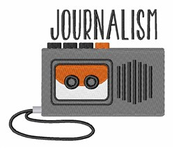 Journalism Recorder embroidery design
