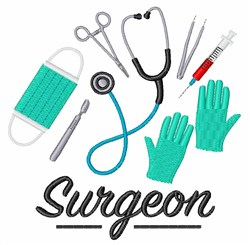 Surgeon embroidery design