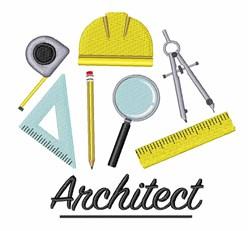Architect embroidery design