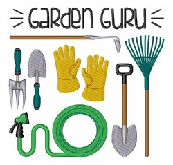 Garden Guru embroidery design