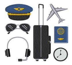 Pilot Items embroidery design
