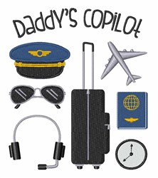 Daddys Copilot embroidery design
