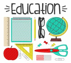 Education Supplies embroidery design