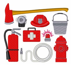 Fire Fighter Equipment embroidery design