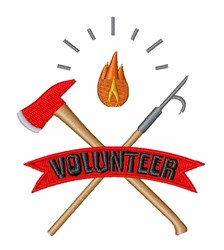 Volunteer Fire Fighter embroidery design