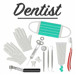 Dentist Tools embroidery design