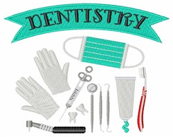 Dentistry embroidery design